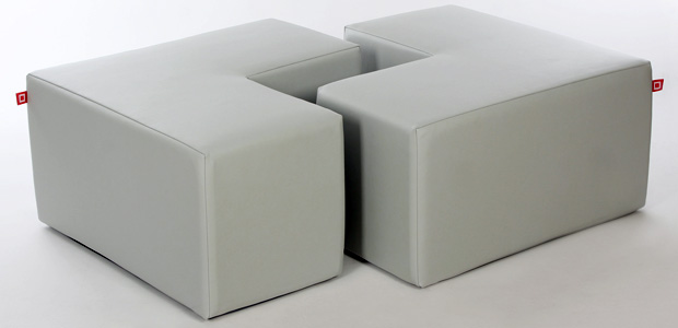 cube seat by CUBESTYLE - leather cube seats